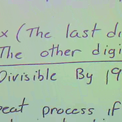Determining Divisibility by 19
