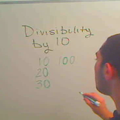 Determining Divisibility by 10