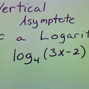 Determining the Vertical Asymptote of a Log