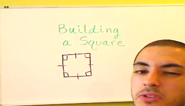 Building a Square with Two Triangles
