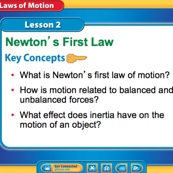 Newton's First Law (Chapter 2 Lesson 2)