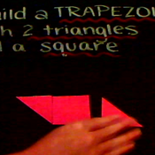 Building a Trapezoid with Two Triangles and a Square