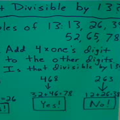 Determining Divisibility by 13