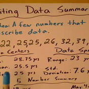 Writing a Data Summary