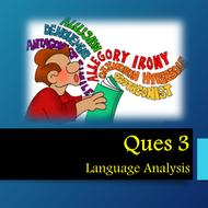 AQA GCSE Paper 2  A02  Ques 3 Language Analysis