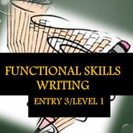 Entry 3/Level 1 Writing