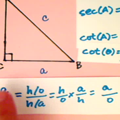 Determining Cotangent from Cosecant and Secant