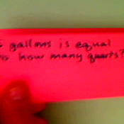 Relating Quarts and Gallons