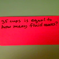 Relating Fluid Ounces and Cups