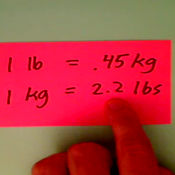 Relating Kilograms and Pounds