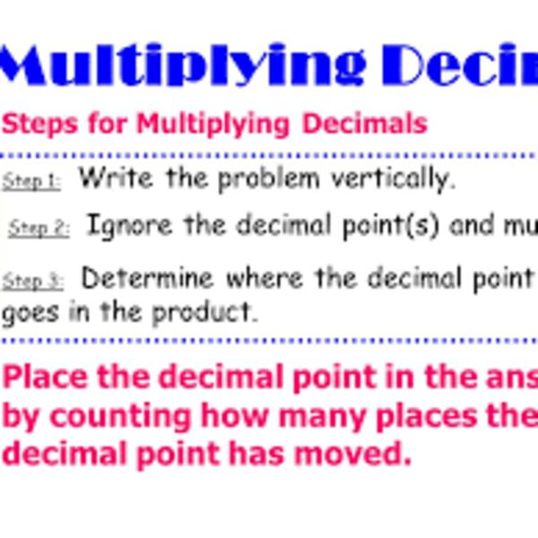 Math 6 Lesson 1.7: Multiplying Decimals