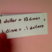 Relating Dimes and Dollars