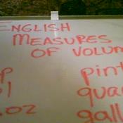 English Units of Liquid Volume