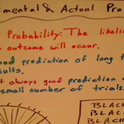 Experimental and Theoretical Probability