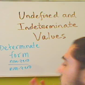 Undefined and Indeterminate Limit Values