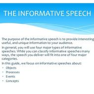 How to deliver an informative speech