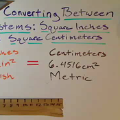 Converting Between Square Inches and Centimeters