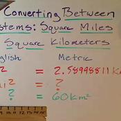 Converting Between Square Miles and Square Kilometers