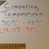 Comparing Temperatures