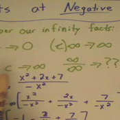 Taking a Limit at Negative Infinity