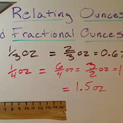 Relating Ounces and Fractional Ounces