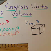 English Units of Volume