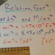Relating Feet Cubed Yards Cubed and Miles Cubed