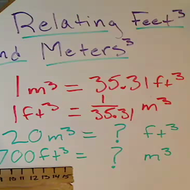 Relating Feet Cubed and Meters Cubed