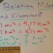 Relating Miles Cubed and Kilometers Cubed