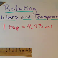 Relating Milliliters and Teaspoons