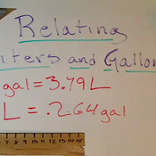Relating Liters and Gallons