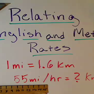Relating English and Metric Rates
