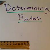 Determining Rates
