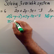 Solving Three Variable Systems Square