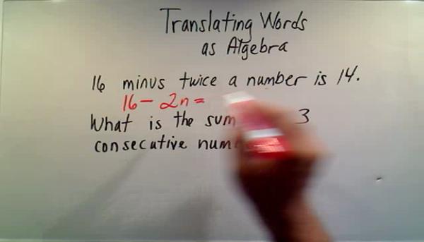 Translating Words as Algebra