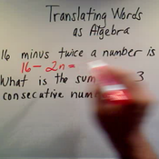 Translating Words as Algebra