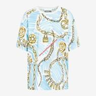 Moschino Brushstroke Chain T-Shirt Blue