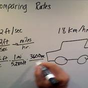 Comparing Rates
