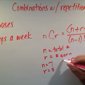 Calculating Combinations With Repetition