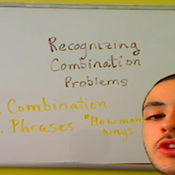 Recognizing Combination Problems