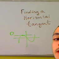 Finding a Horizontal Tangent