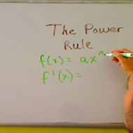 The Derivative Power Rule