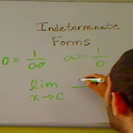 Indeterminate Forms
