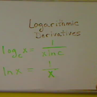 Logarithmic Derivatives