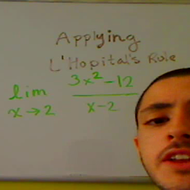Applying L'Hopital's Rule