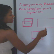 Comparing Squares Rectangles and Boxes