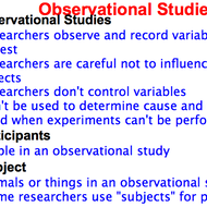 Observational Studies and Experiments