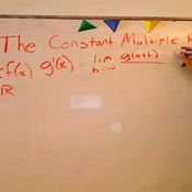 The Constant Multiple Rule