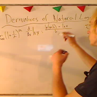 Taking the Derivative of Natural Logarithmic Functions