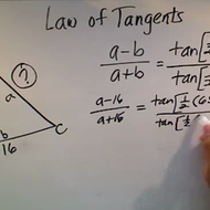 Applying the Law of Tangents